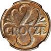 2 grosze 1932, mennicze, kolor BN