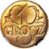 1 grosz 1923, menniczy, kolor RD