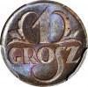 1 grosz 1923, menniczy, kolor BN