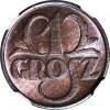 1 grosz 1930, menniczy, kolor RB