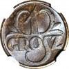 1 grosz 1931, menniczy, kolor BN