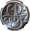 1 grosz 1933, menniczy, kolor BN