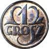 1 grosz 1936, menniczy, kolor RB