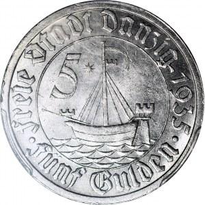Wolne Miasto Gdańsk, 5 guldenów 1935, mennicze