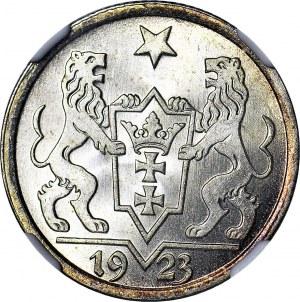 Wolne Miasto Gdańsk, 1 gulden 1923, WYŚMIENITY