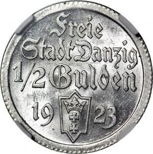 Wolne Miasto Gdańsk, 1/2 guldena 1923, mennicze