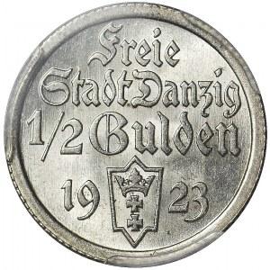 Wolne Miasto Gdańsk, 1/2 guldena 1923, Utrecht