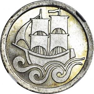 Wolne Miasto Gdańsk, 1/2 guldena 1927, rzadkie