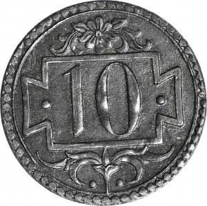 RRR-, WMG 10 fenigów 1920 r.,65.1/17 Stumpf Sohn, stemple od PRÓBY
