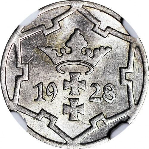 Wolne Miasto Gdańsk, 5 fenigów 1928, mennicze, rzadkie