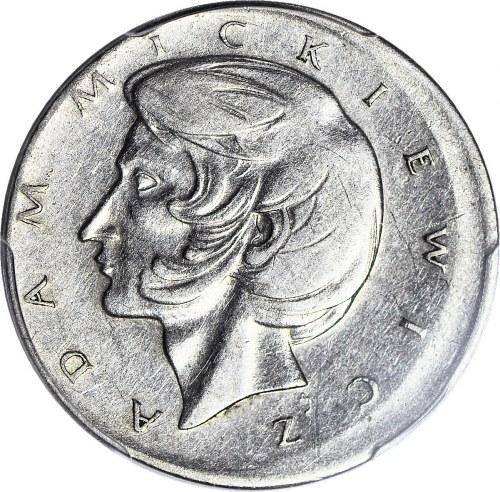 R-, 10 złotych 1975 Mickiewicz, niecentryczne bicie, DESTRUKT