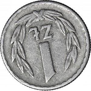 R-, 1 złotych 1966, odwrotka 170 stopni w prawo, rzadkie
