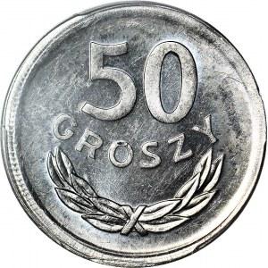 RR-, 50 groszy 1977, DESTRUKT, b. rzadkie