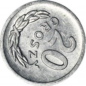 R-, 20 groszy 1969, skrętka 115 stopni w prawo, rzadkie