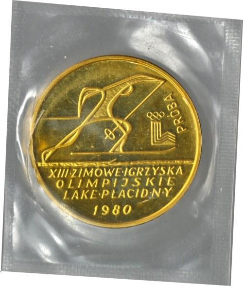 2000 złotych 1980, Olimpiada w Lake Placid, PRÓBA, oryginalna zgrzewka