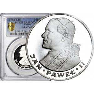 100 złotych 1982, Jan Paweł, lustrzane
