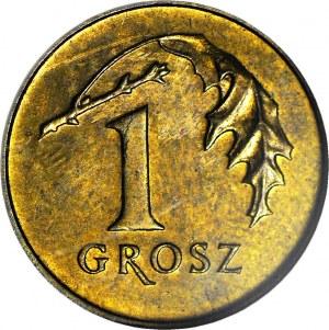 R-, 1 Grosz 2004, menniczy, destrukt, ODWROTKA 180 stopni