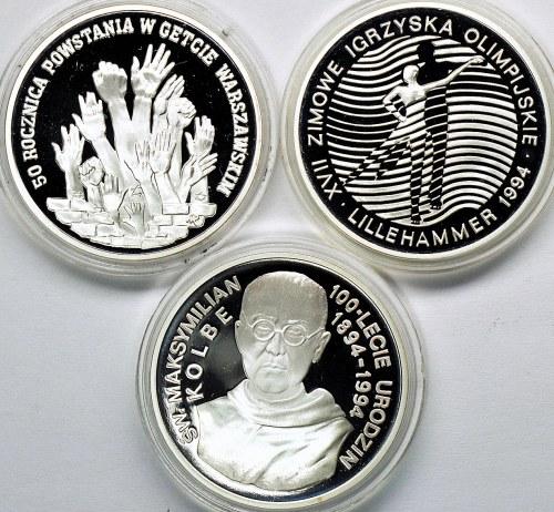 3 szt. 300.000 zł 1993-94, Getto, Kolbe, Lillehammer