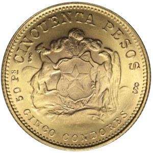 Chile, 50 pesos 1970, mennicze