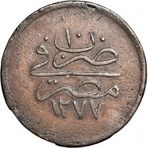 Egipt, sułtan Abdul Aziz AH1277/10, 20 para, z kwiatkiem
