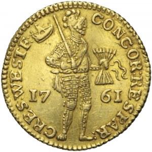 Holandia, Fryzja Zachodnia, dukat 1761, znak menniczy