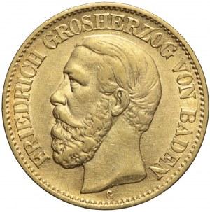 Niemcy, Badenia, 10 marek 1876 G, Fryderyk I