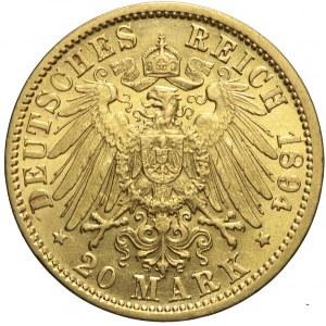 Niemcy, Badenia, 20 marek 1894 G, Fryderyk I