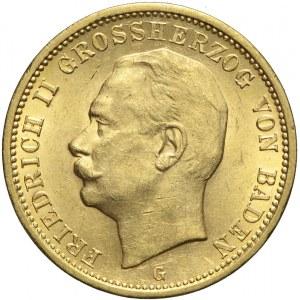 Niemcy, Badenia, 20 marek 1912 G, Fryderyk II