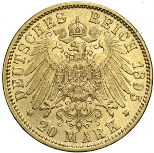 Niemcy, Bawaria, 20 marek 1895 D, Otto