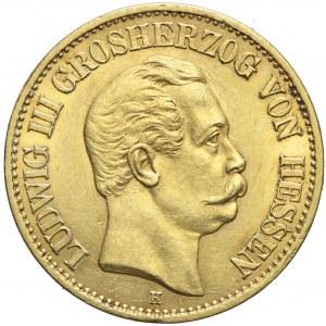 Niemcy, Hesja, 10 marek 1872 D, Ludwig III