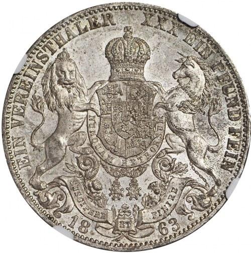 Niemcy, Hanower, Talar 1860, Jerzy V, menniczy