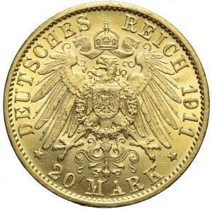 Niemcy, Hesja, 20 marek 1911 A, Ernst Ludwik