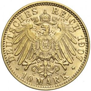 Niemcy, Hamburg, 10 marek 1907 J