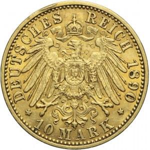 Niemcy, Prusy, 10 marek 1890 A, Wilhelm II
