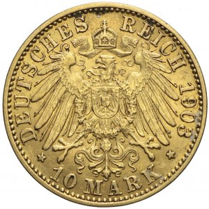 Niemcy, Prusy, 10 marek 1903 A, Wilhelm II