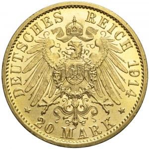 Niemcy, Prusy, 20 marek 1914 A, Wilhelm II