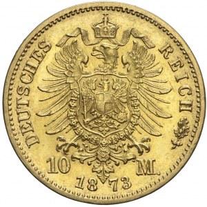 Niemcy, Saksonia, 10 marek 1873 E, Jan V