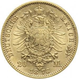 Niemcy, Saksonia, 20 marek 1873 E, Jan V