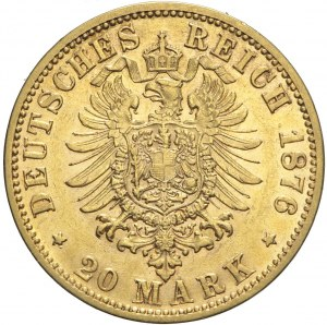 Niemcy, Saksonia, 20 marek 1876 E, Albert