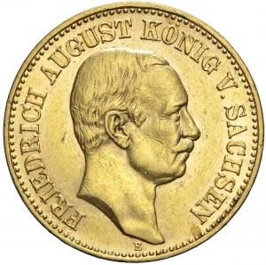 Niemcy, Saksonia, 20 marek 1905 E, Fryderyk August