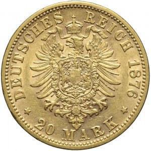 Niemcy, Wirtembergia, 20 marek 1876 F, Karol I