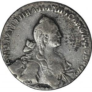 Rosja, Katarzyna II, Rubel 1768 СПБ-EI ГРУБЫЙ ЧЕКАН