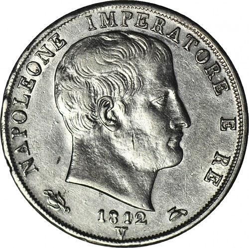 Włochy, Napoleon I 2 Liry 1812V, Wenecja, przebitka 1808/12, M/V