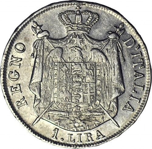 Włochy, Napoleon I 1 Lir 1808 M