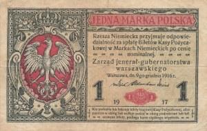 2 szt. 1/2 marki i 1 marka 1916 jenerał, ser. A