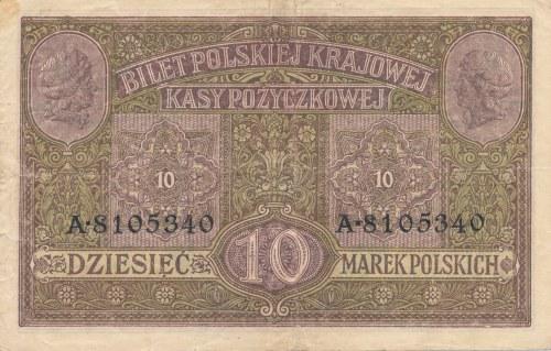 10 marek 1917 Generał, biletów, ser. A 810…