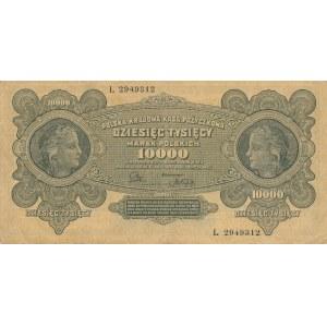 2 szt. Inflacja 10.000 ser. L i 50.000 marek 1922r. ser. M