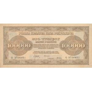 Inflacja 100.000 marek 1923r. ser. G