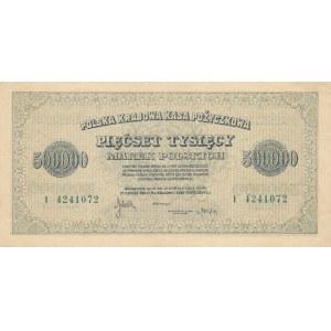 Inflacja 500.000 marek 1923r. ser. I