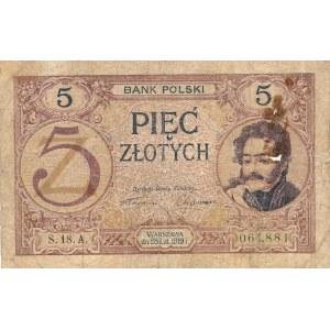 5 złotych 1919r. S.18.A
